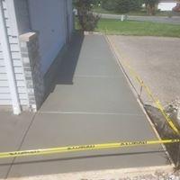 Sidewalk and Apron