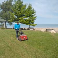 John slit seeding at Point Clark Lighthouse Park