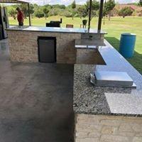 Outdoor sink with granite countertops