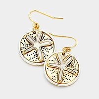 jewelry, earrings, mother of pearl, sand dollar