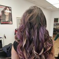 tape-in extensions, purple