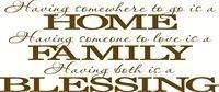 HOME, FAMILY, BLESSING (NEW)