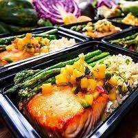 Pacific Grilled Salmon with mango chutney