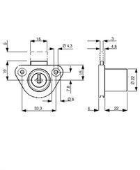L&F cabinet lock