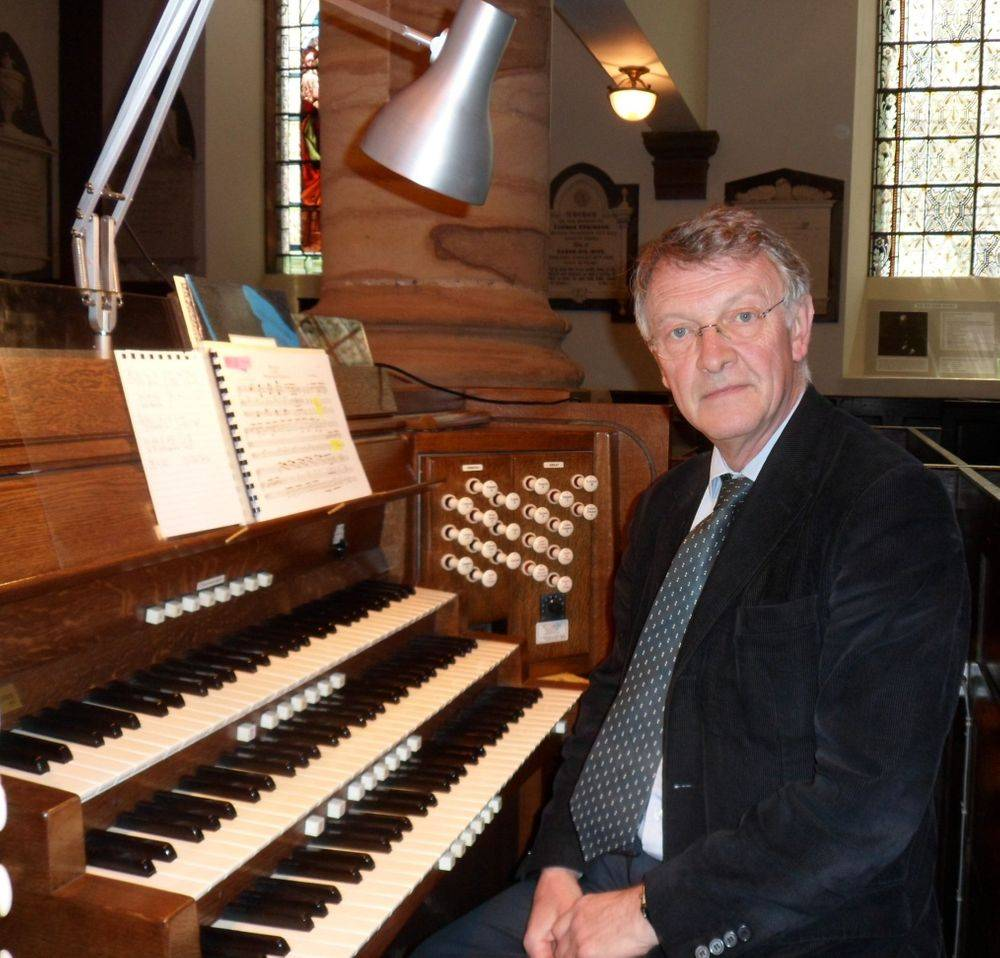 John Keys at the organ