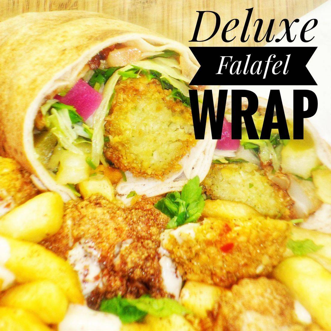 Deluxe Falafel Wrap Vegetarian and Vegan