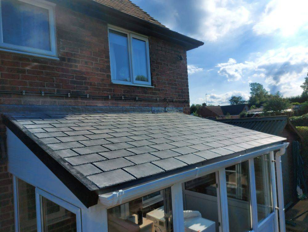 Homeseal warm roof tiled system installed in Chesterfield, Derbyshire
