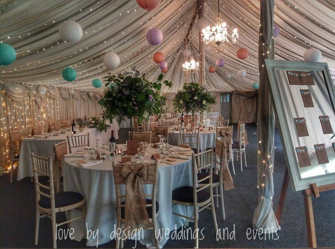 Marquee Wedding Reception Decorations