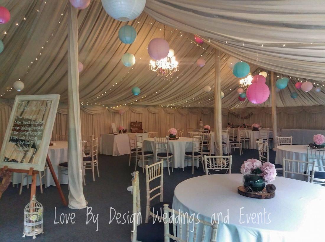 Marquee Wedding Reception Decorations