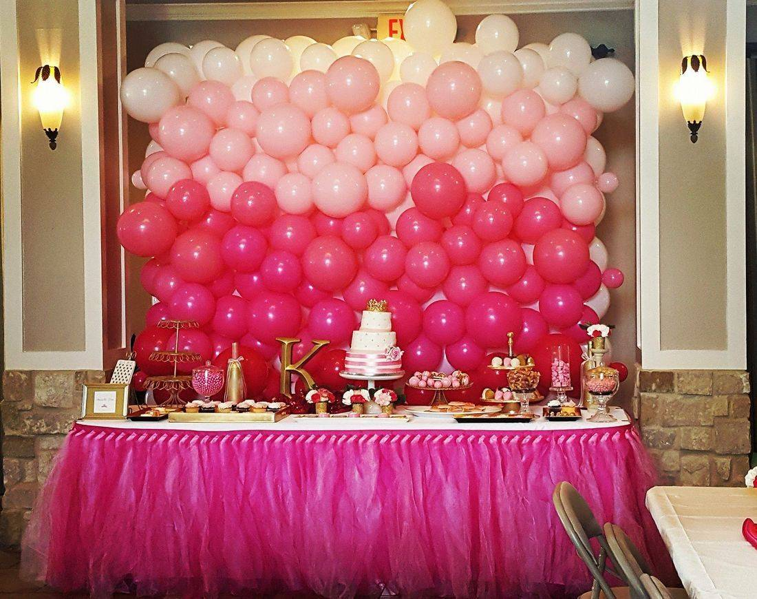 Balloon Wall, Baby Shower, Balloon Decorations, Backdrop, Houston, TX, Balloon Delivery, Balloon Decorations, Pink Balloons, Infante Creations