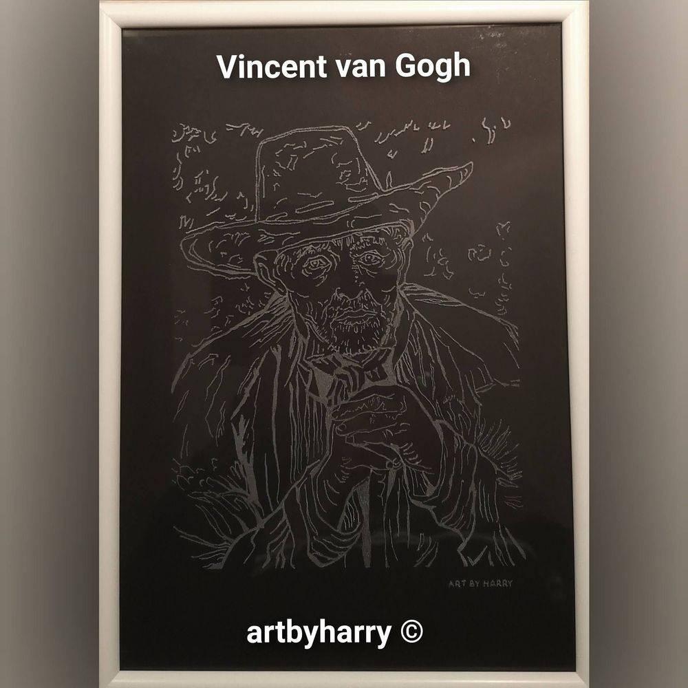 Vincent van Gogh gegraveerd