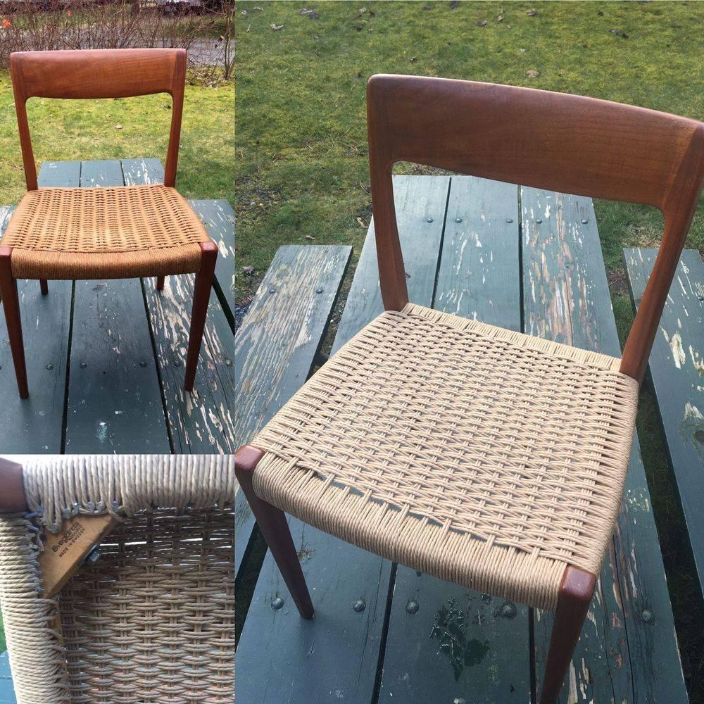 Tacked Danish Cord Chair Renewed