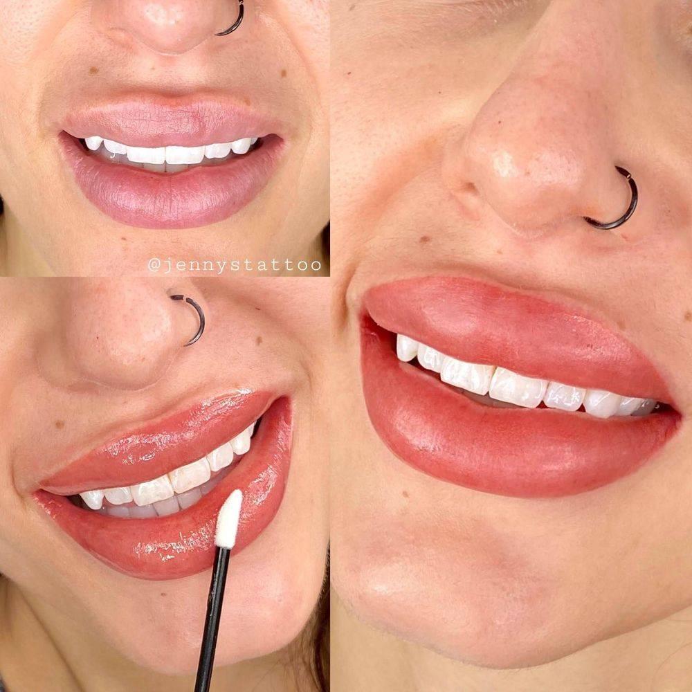 Permanent lip color