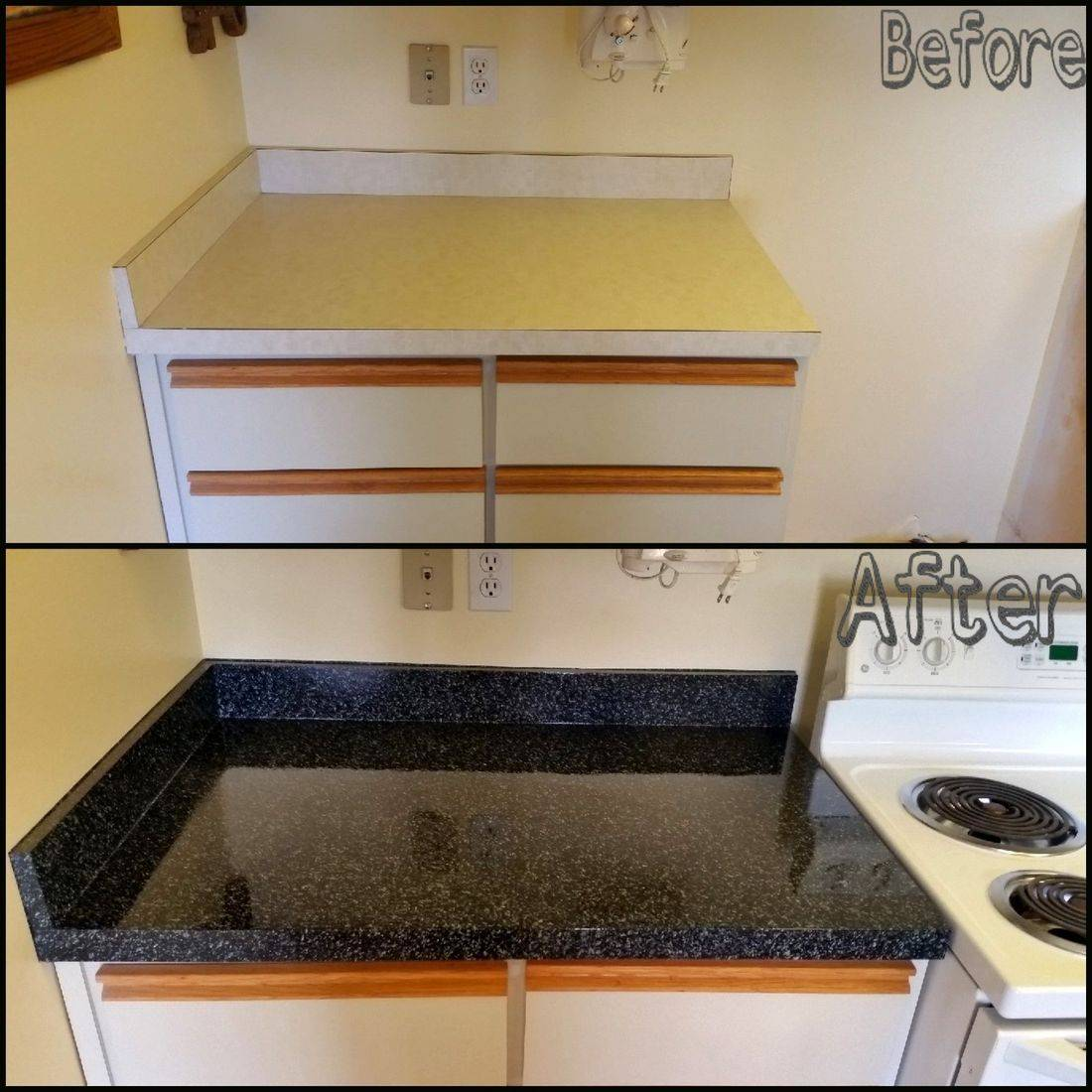 Before & After Counter Top