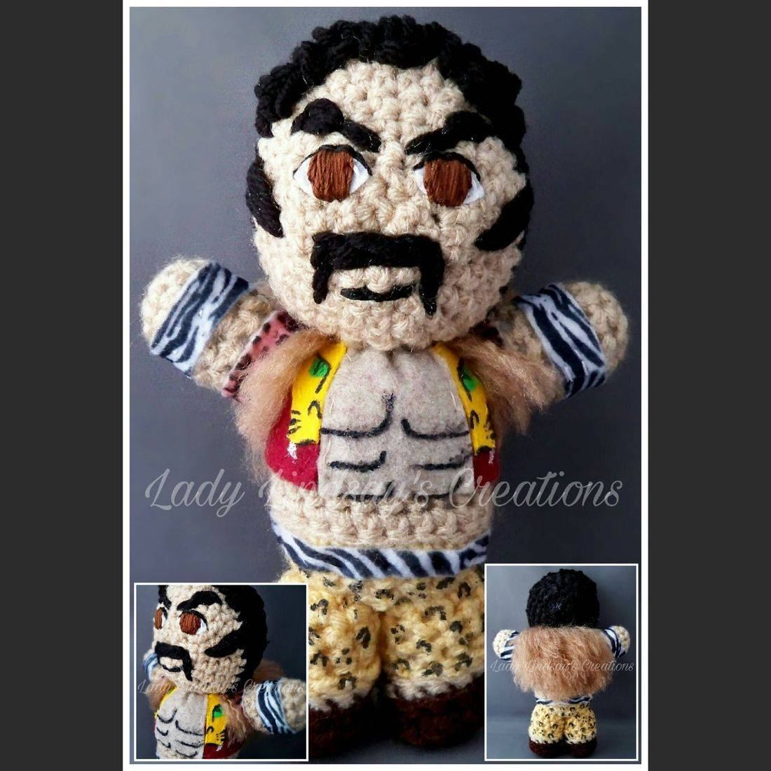 Kraven, Spiderman, Sinister Six, homecoming, Marvel, amigurumi, doll, plush, nerd, geek, collectible, crochet, handmade, Peter Parker