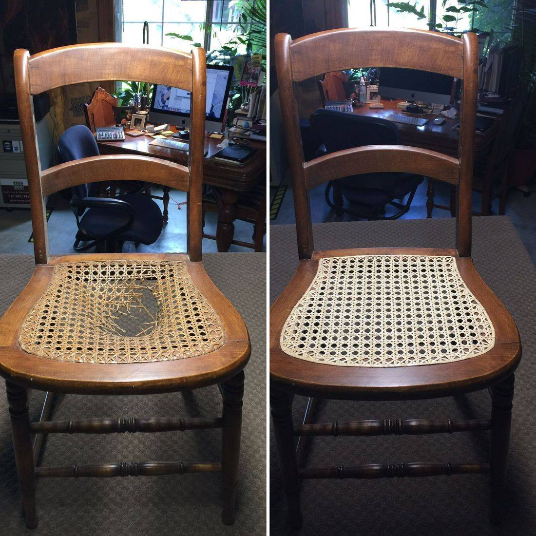 Strand Caned Chair by Hank's Cane  & Rush Restoration
