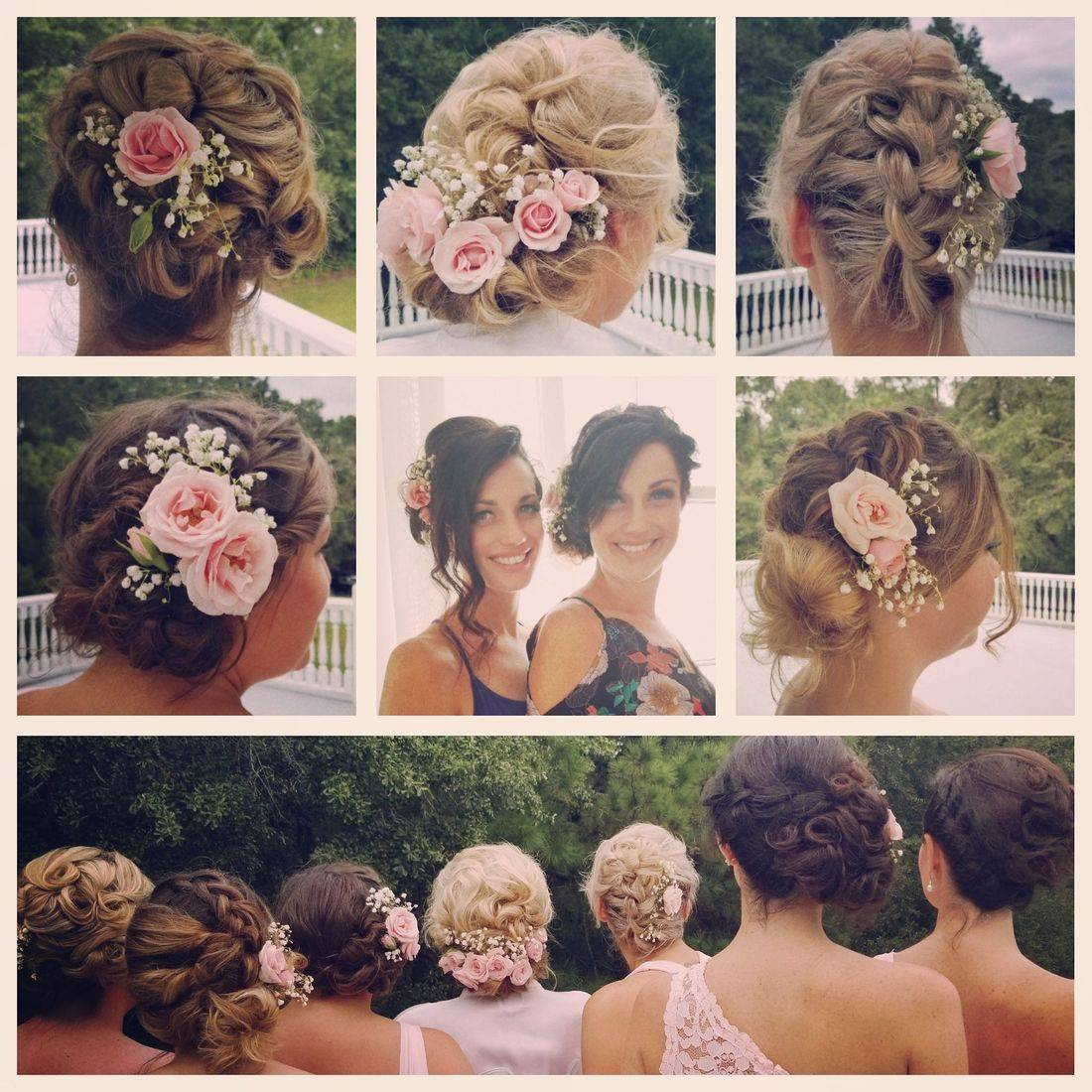 Hairdreams by dyana, Bridge, bride, laura, flowers, wedding, updo, braids, charleston bride, bridesmaids, airbrush, tan, lashes, twists, natural bride