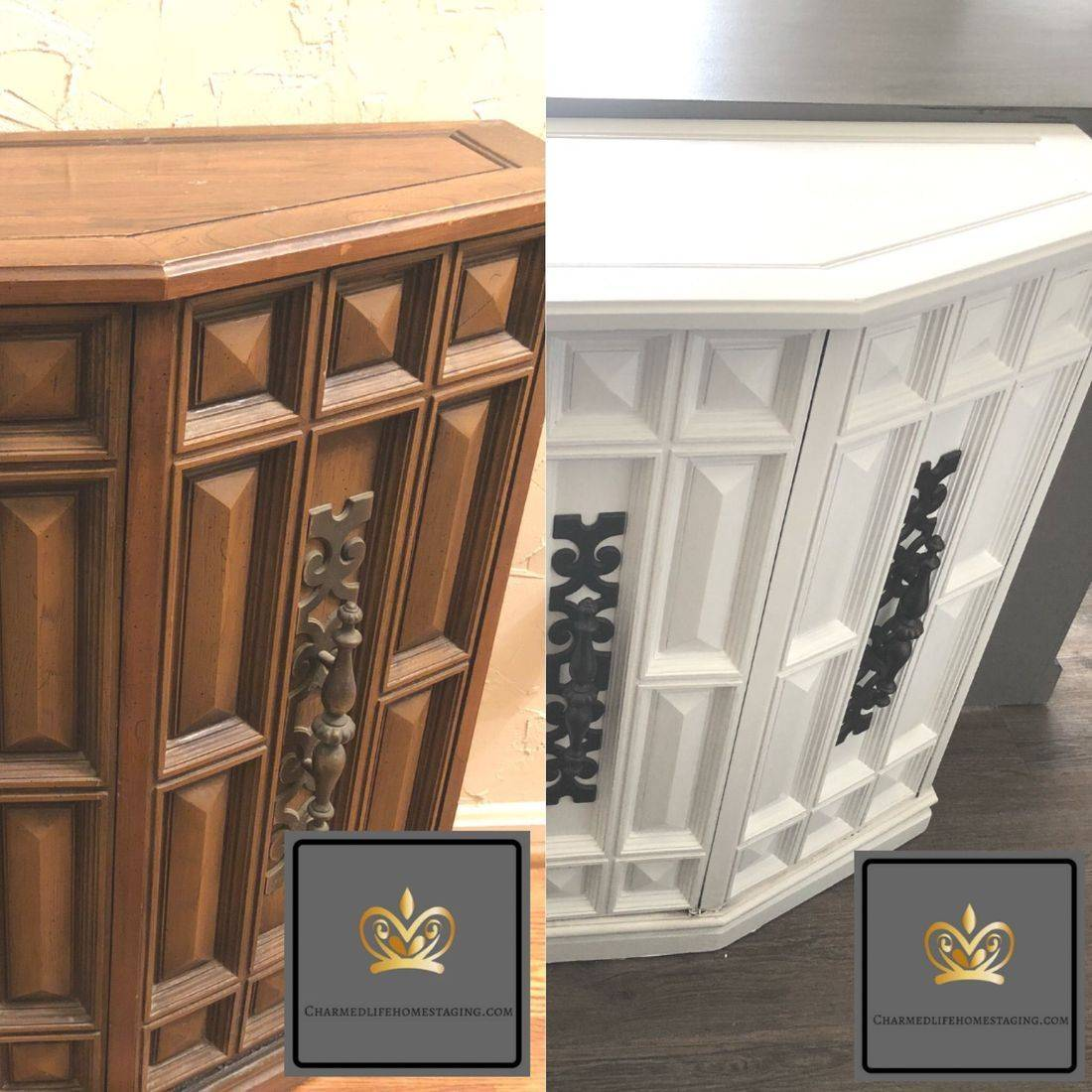 furniture refinishing before and after diy