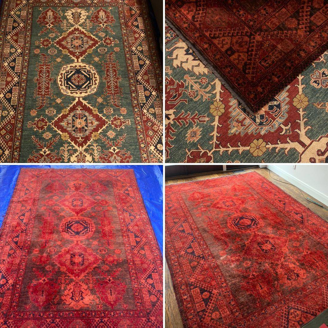 Custom Colour Carpets and Rugs, carpet dyeing, over dyeing