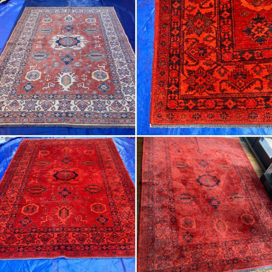 Custom Colour Carpets & Rugs, Carpet Dyeing, Over Dyeing, red