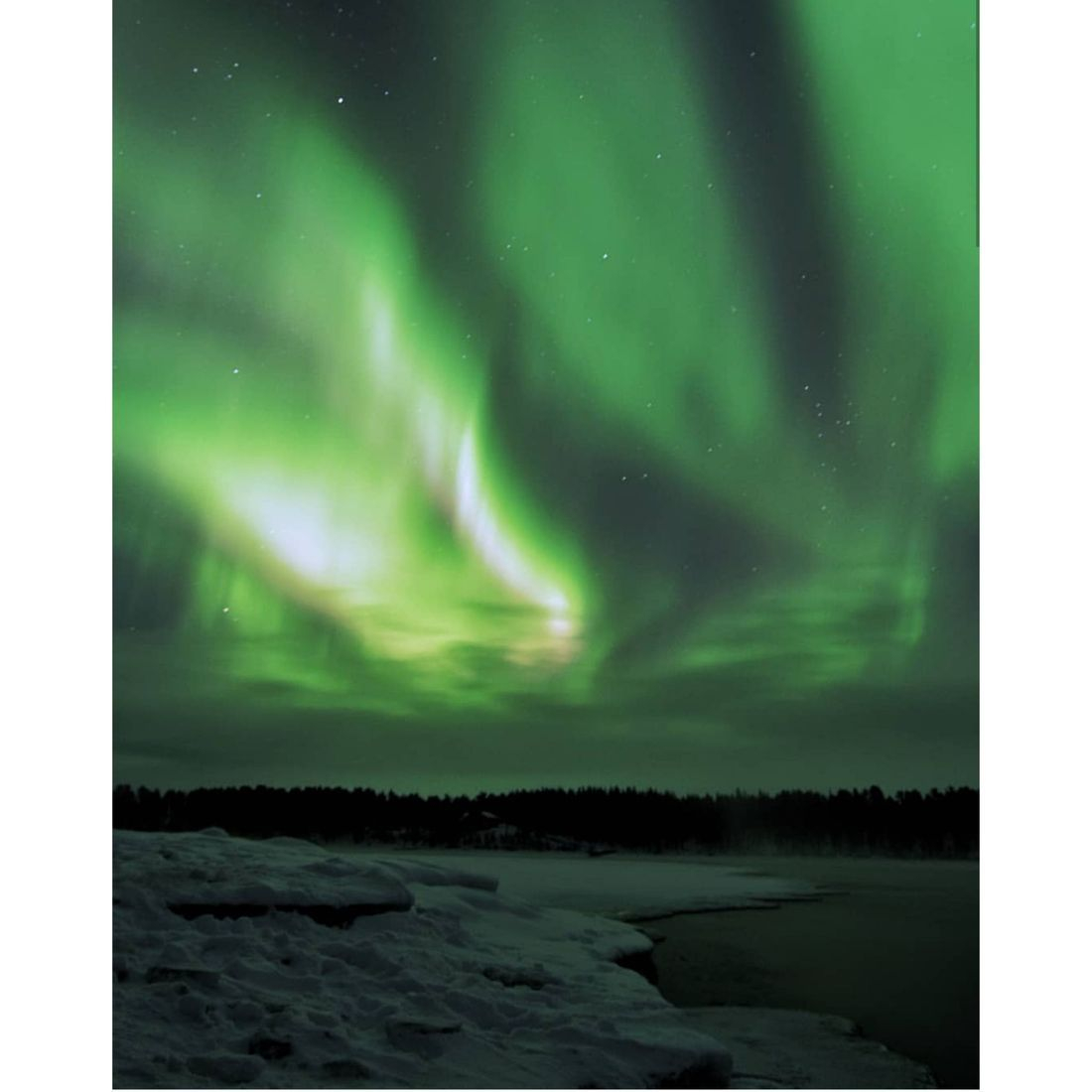 Northern light, aurora, river, kiruna, tour, to do in Kiruna