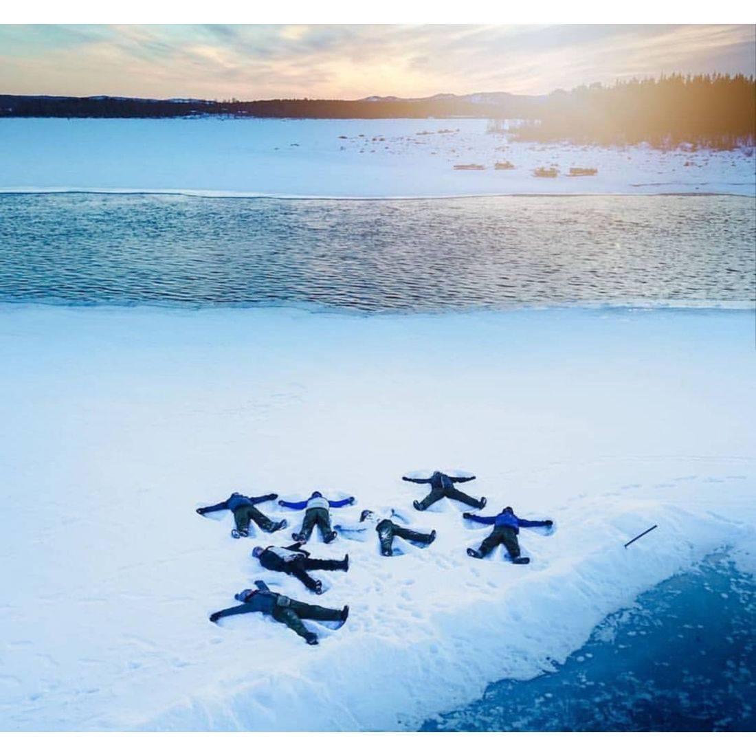 Snowangel, tour, Kiruna