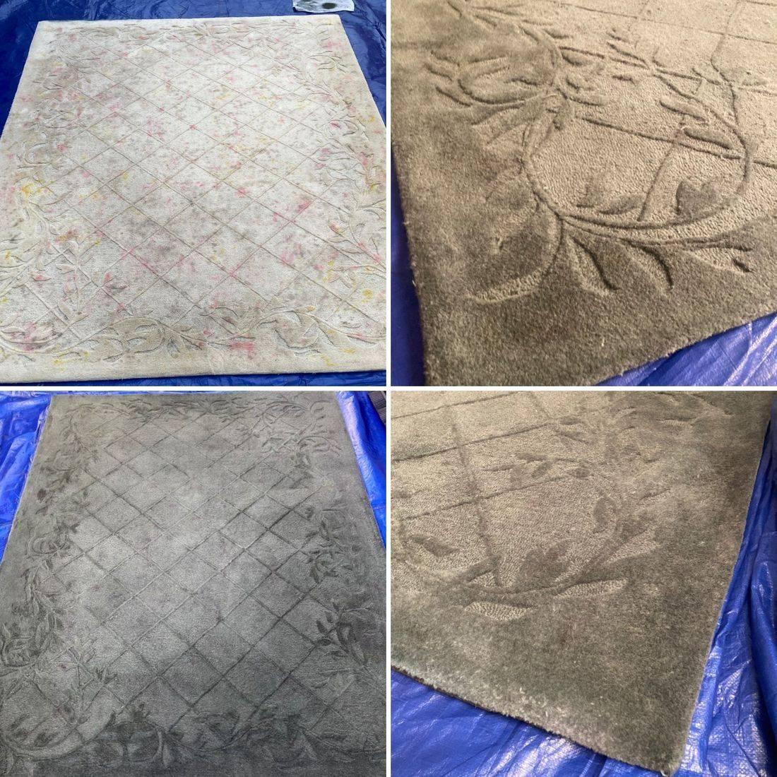 Custom Colour Carpets & Rugs, Carpet Dyeing, Wool Rug, Colour Change