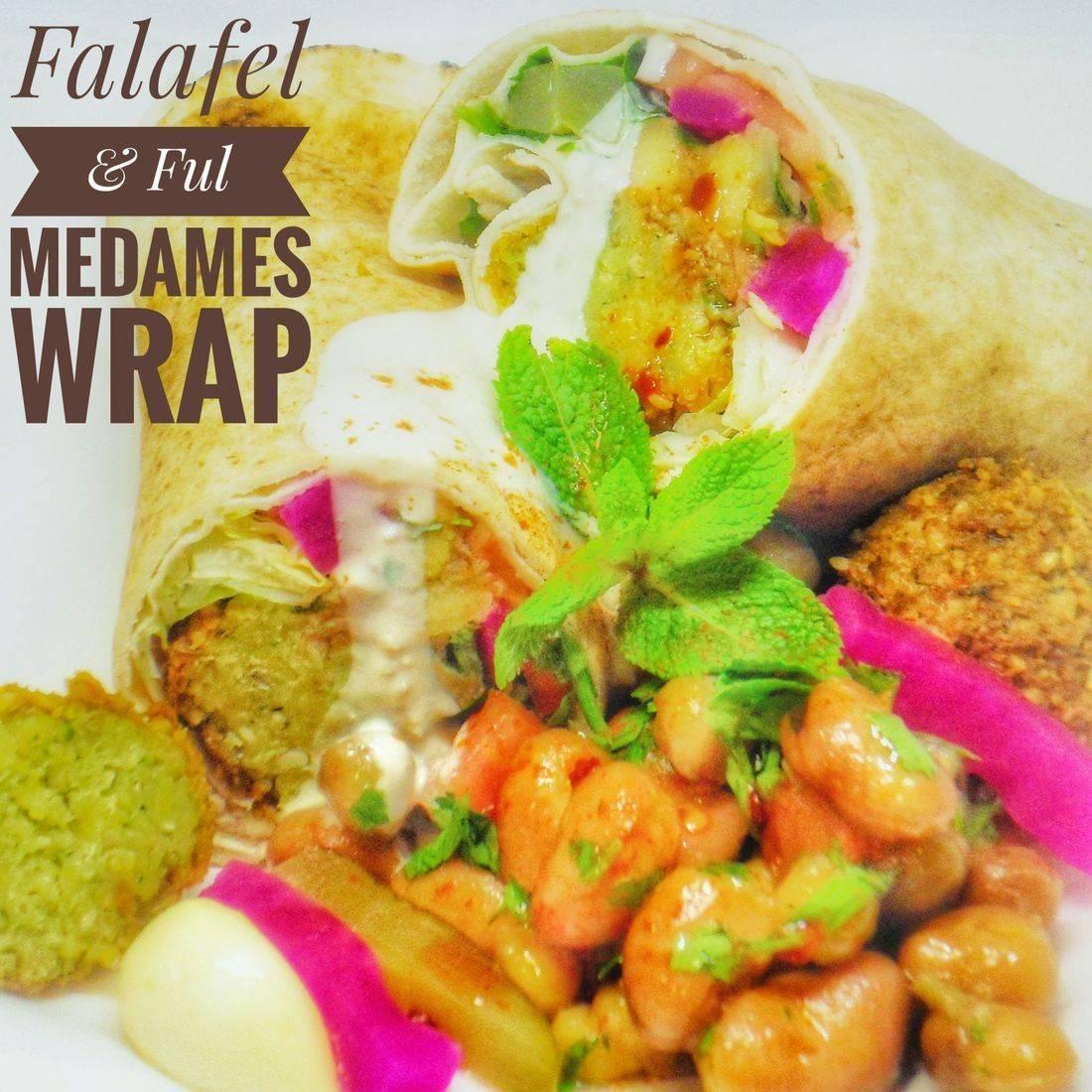 Falafel & Ful Medames Wrap