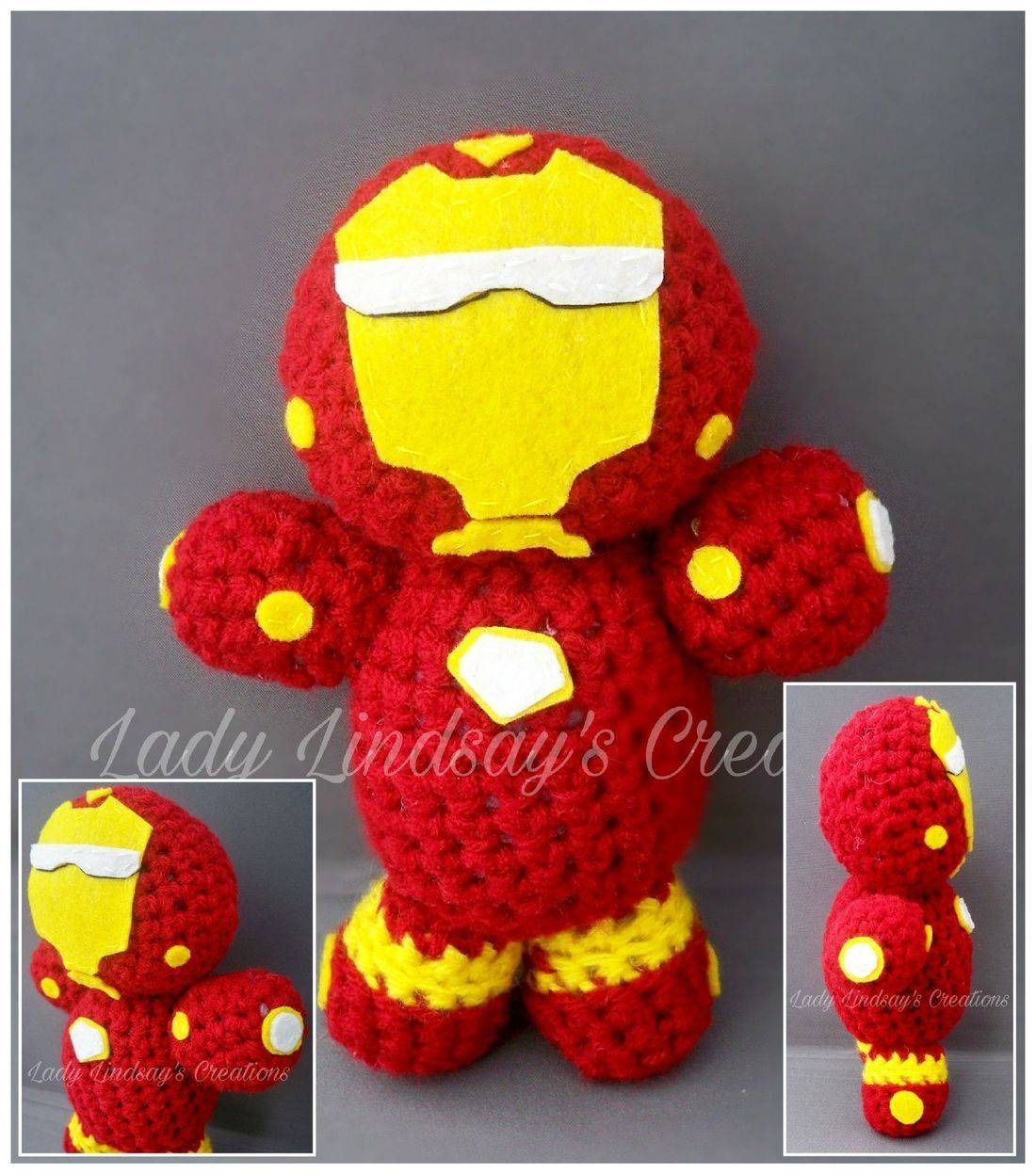 Iron Man, Tony Stark, Stark Enterprises, Amigurumi, plush, crochet, handmade, shop small, Etsy, nerd, geek, otaku, anime, manga, comicbook, superhero, avengers