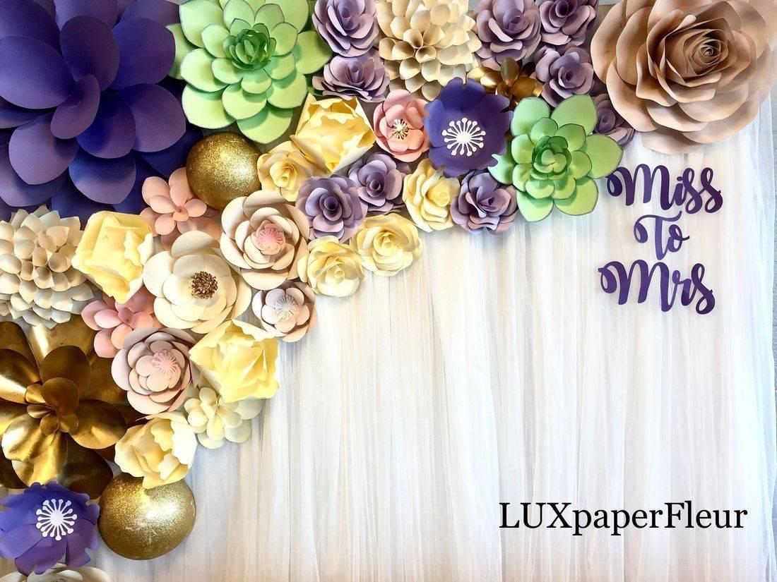 Bridal Shower Paper Flower Backdrop