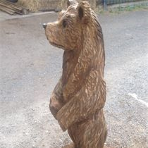 Bear Chainsaw Carving, Mike Burgess, Cheshire UK