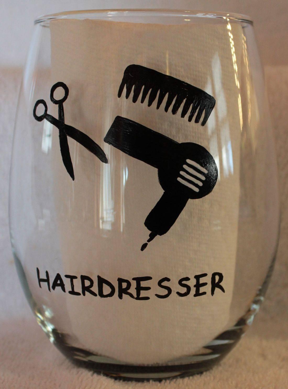 hairdresser wine glass