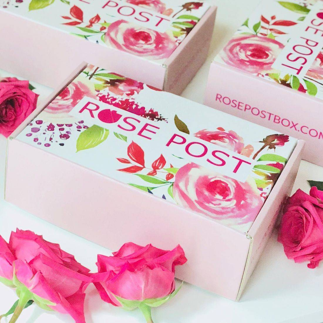 Rose Gift Box, RosePost Spring Box, RosePost Box, Green Beauty Subscription, Rose Beauty Box, Green Beauty Box, Rose Skincare, Clean Rose Beauty
