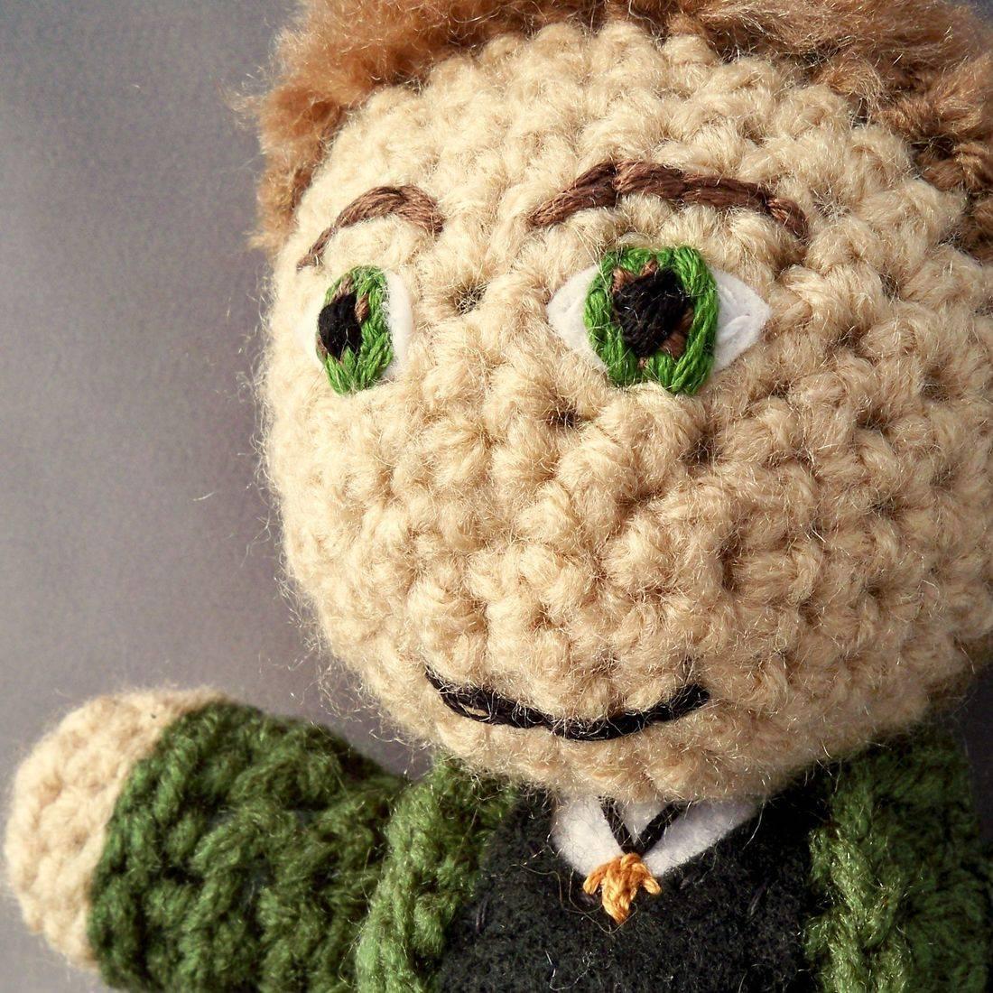 Dean Winchester, Supernatural, hunter, amigurumi, plush, doll, crochet, handmade, nerd, geek