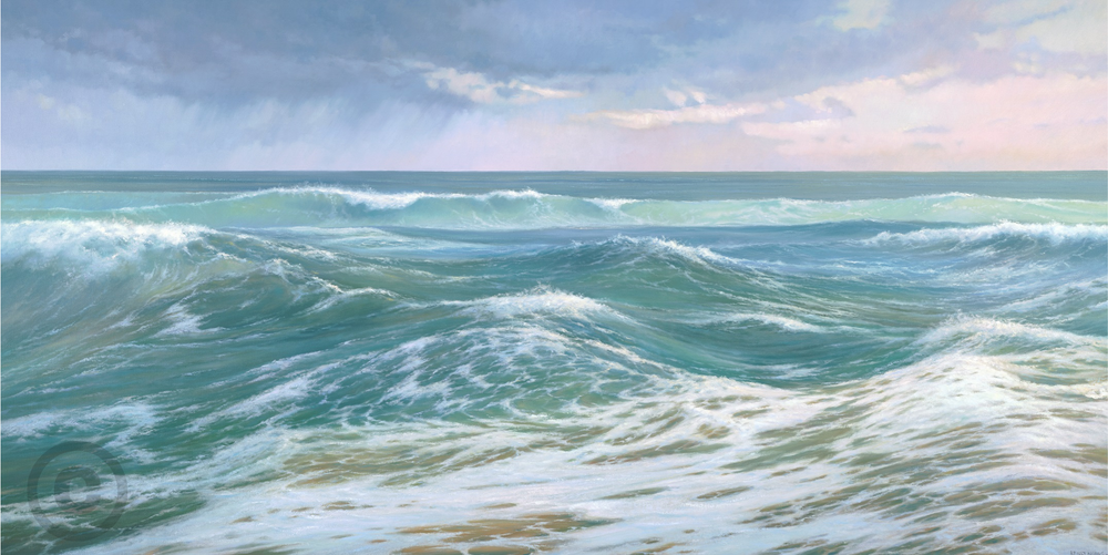 Oceanscape Swell Oil Painting