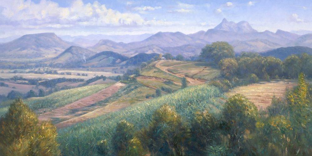 Tweed Valley Mount Warning Oil Painting Giclee Print
