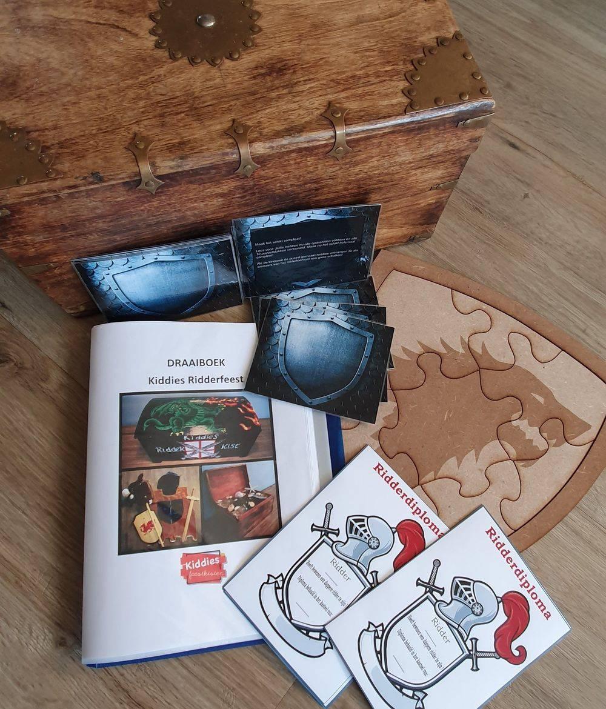 Themakist ridder ridderdiploma ridderspellen ridderdraaiboek kinderfeestje draaiboek