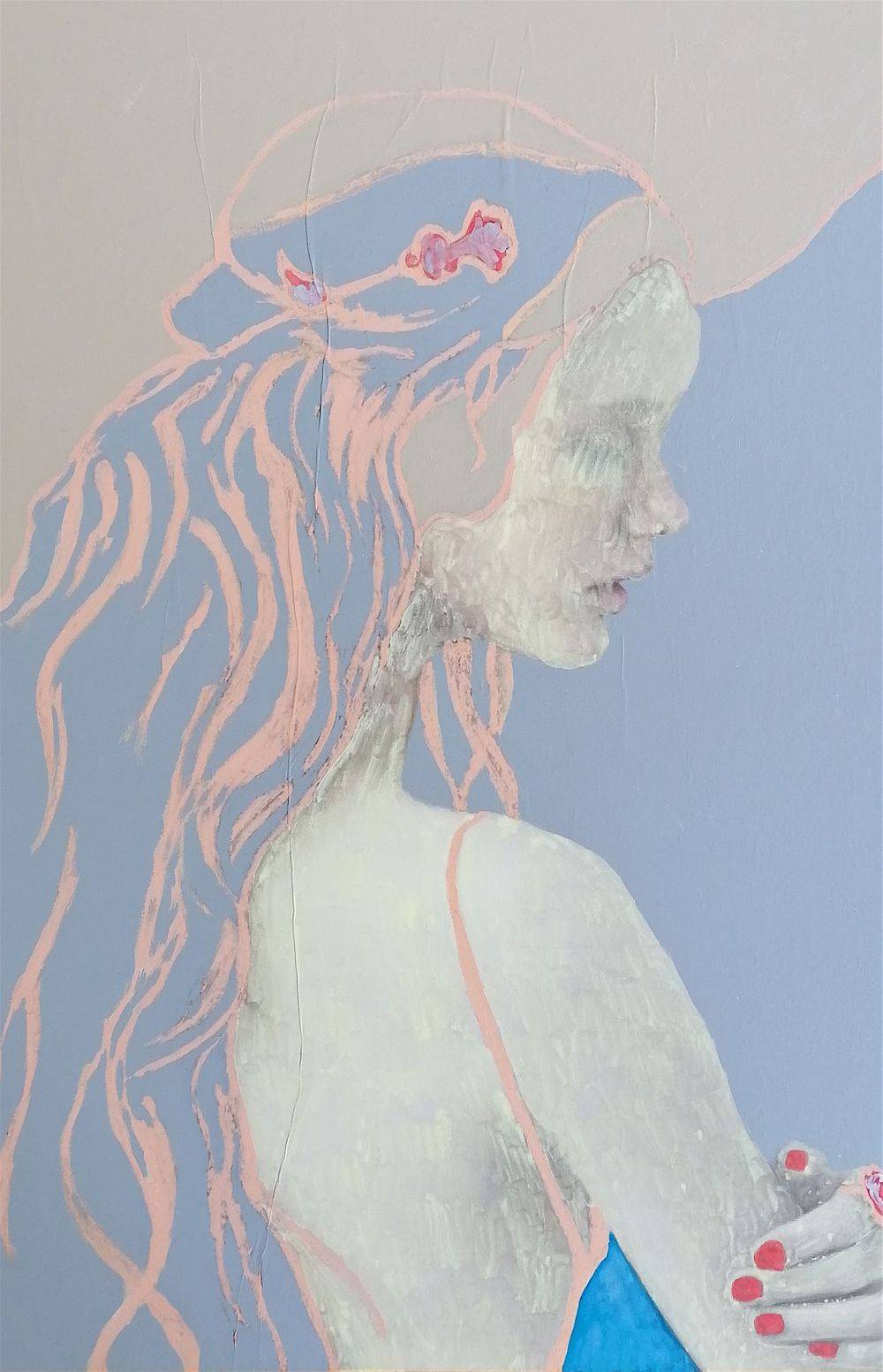 Aquarelle, Acrylique, Violette, Histoire de l'art, Portrait, Femme