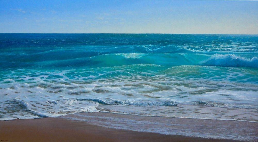 Injidup Beach Break Oil Painting