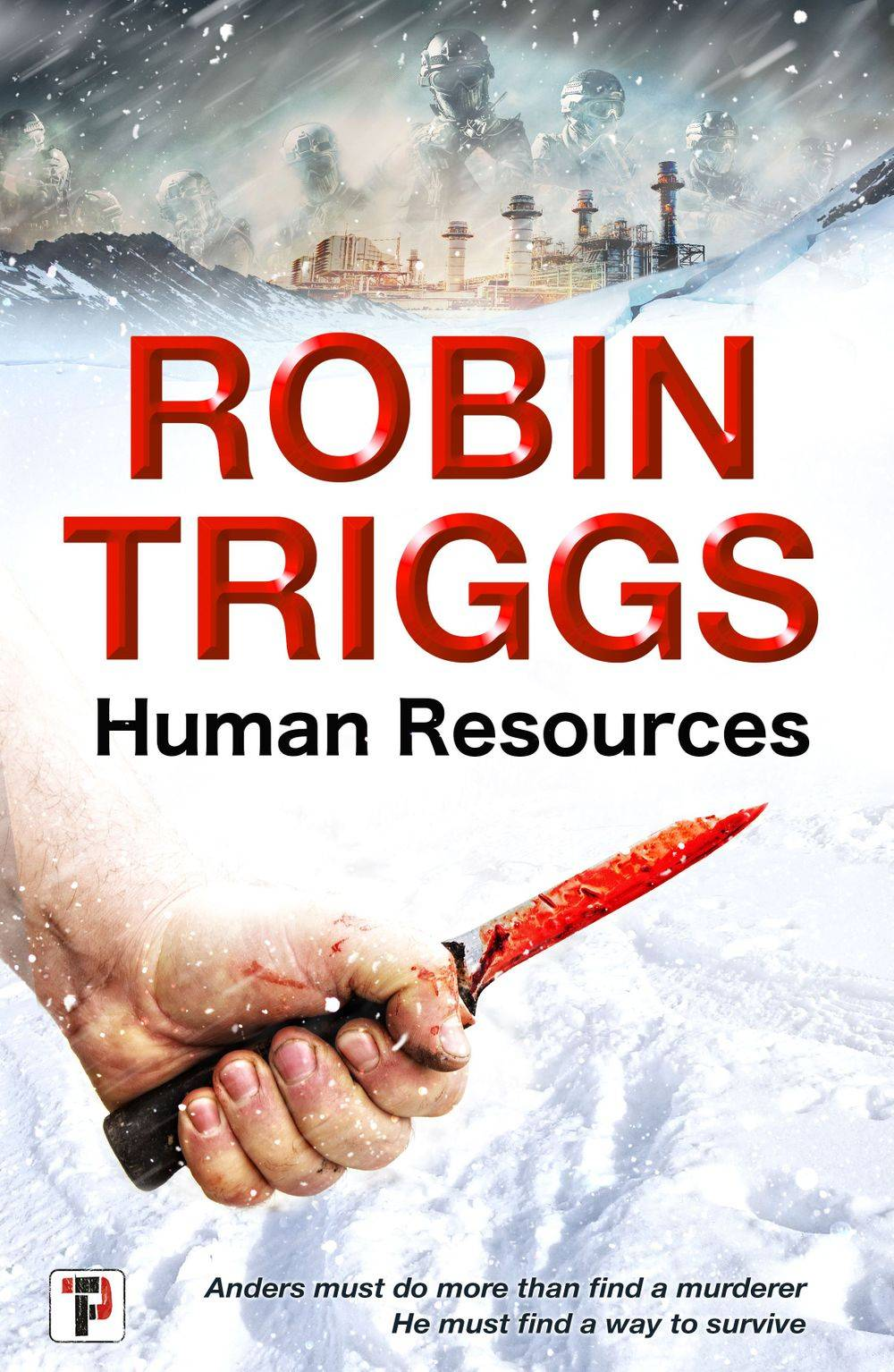 The cover design of Robin Triggs's forthcoming novel 'Human Resources'