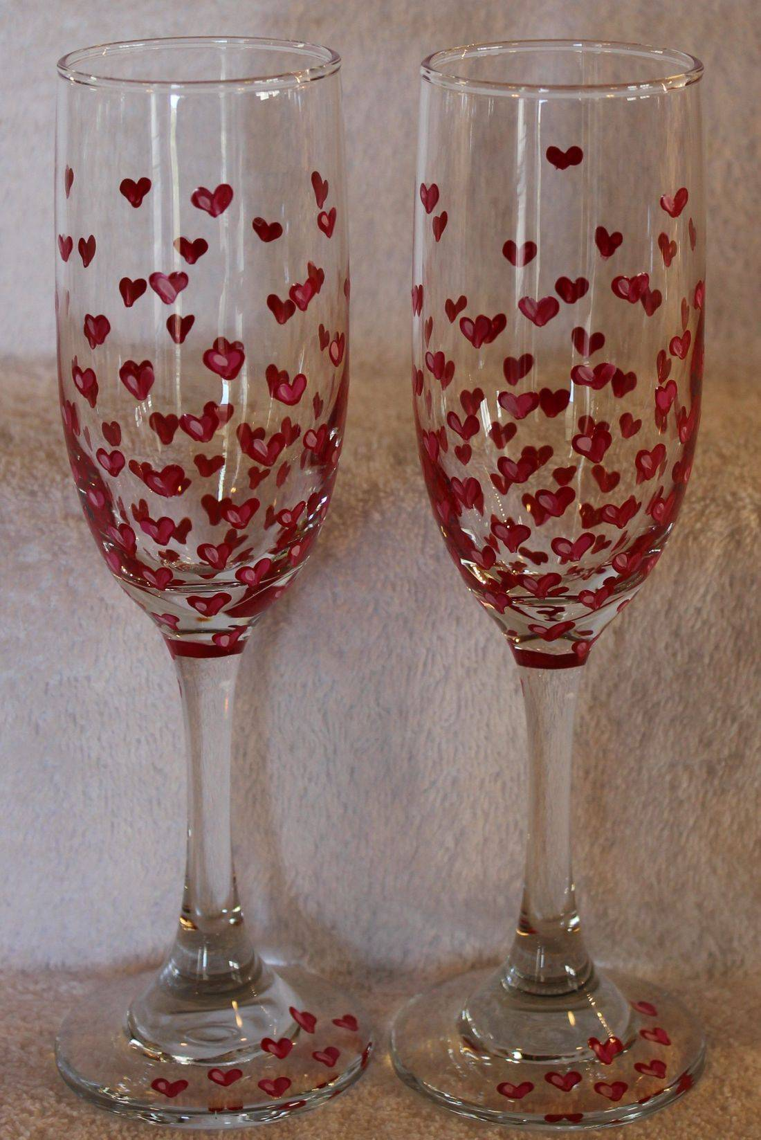 hearts wine glass, hearts champagne