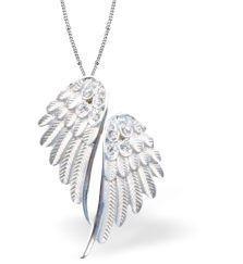 Designer Angel Wings (Silver Coloured) Necklace (K7512) £17.99