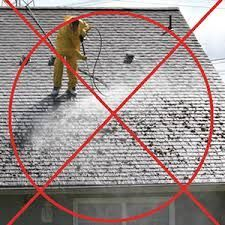 Wrong way to clean a roof