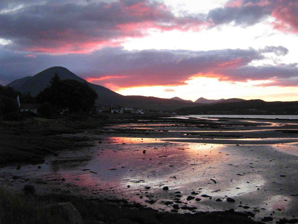 Sunset over Broadford Bay Isle of Skye