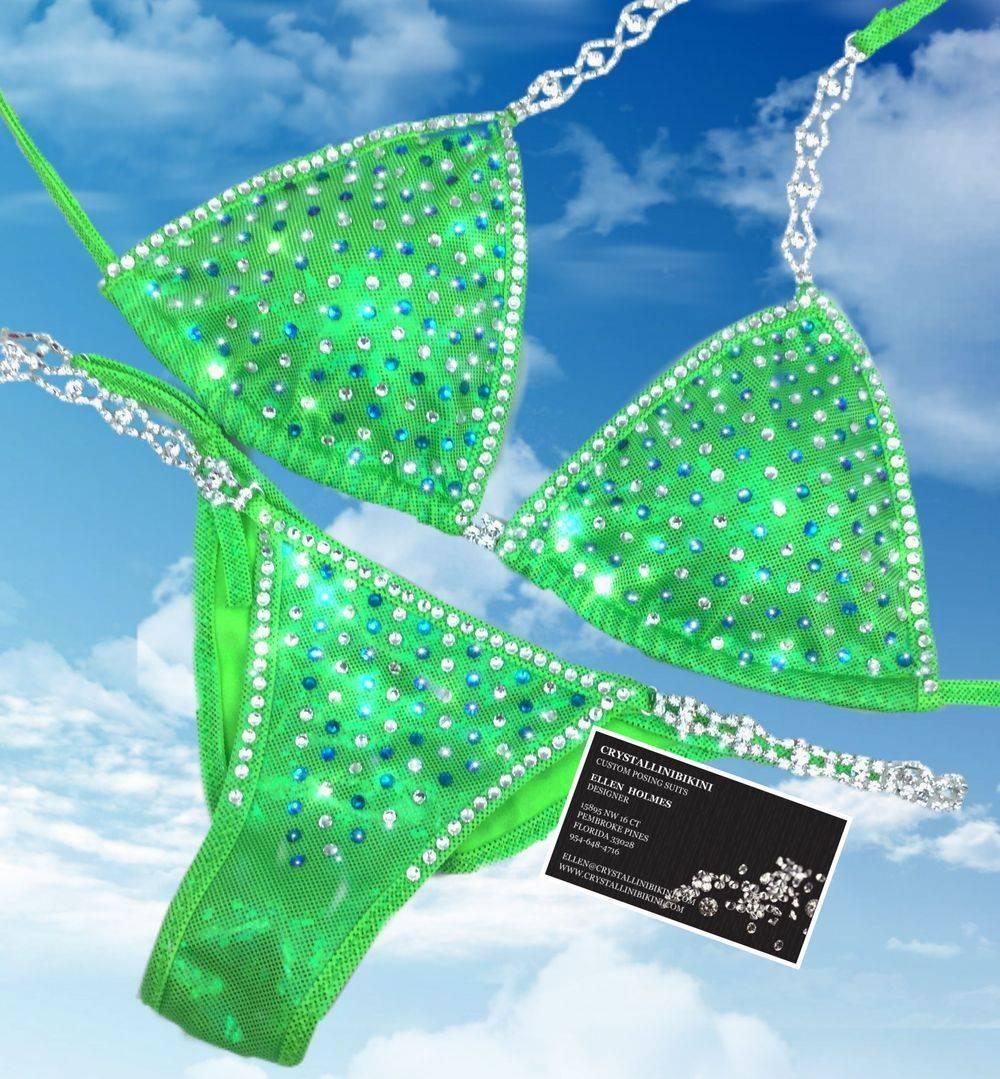 lime green competition bikini