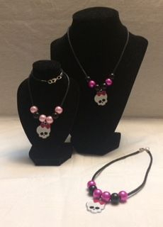 Bubblegum bead monster high necklace