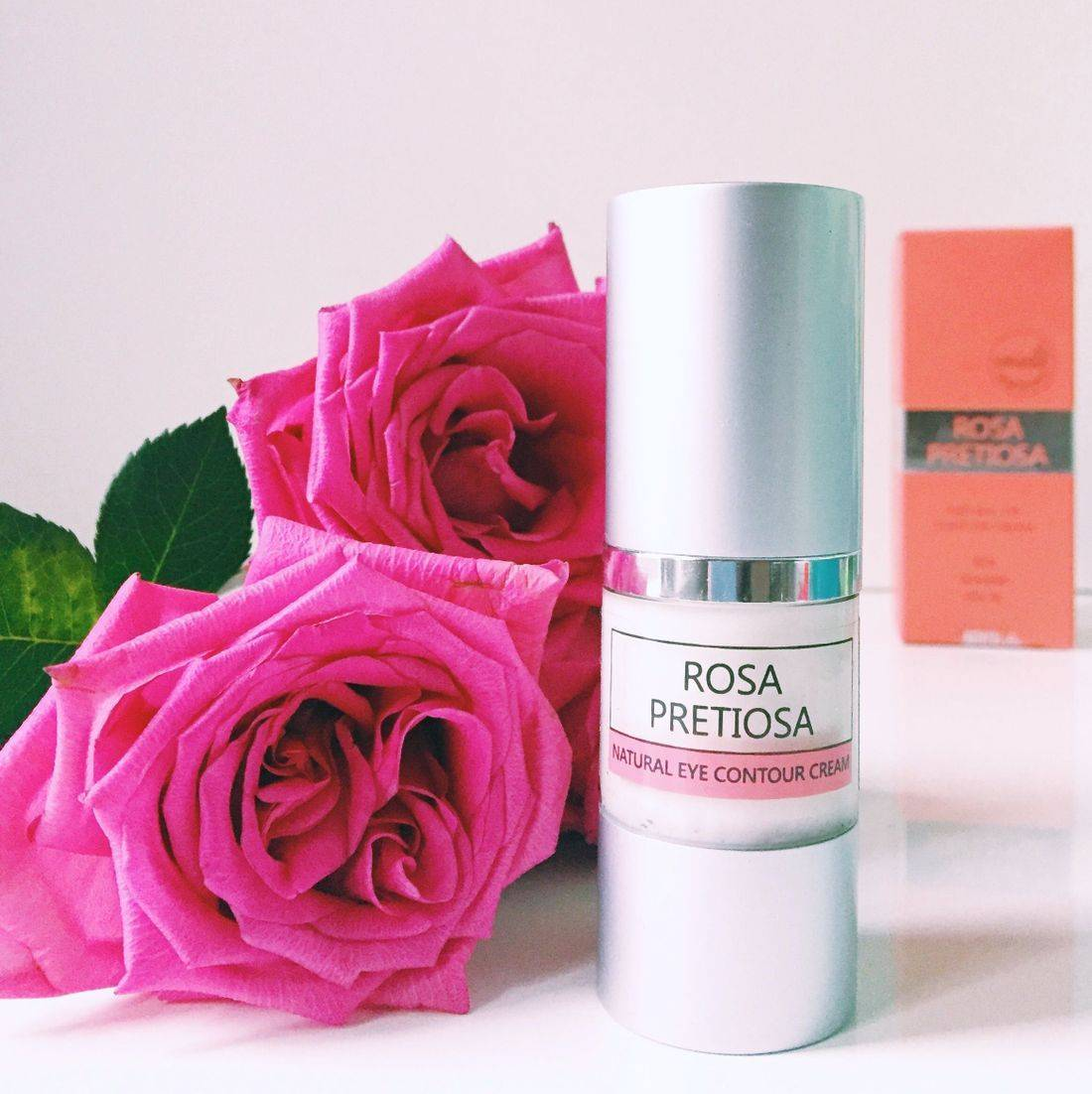 rosa pretiosa natural contour eye cream, rose eye cream, clean rose beauty, rose beauty gift, rosepost box, shop rose skincare