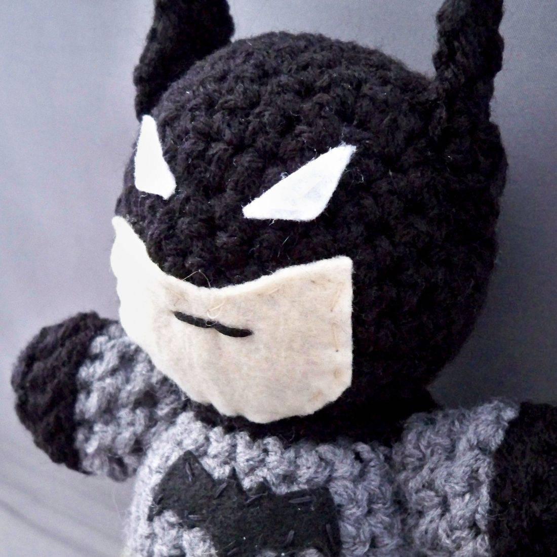Batman, Justice League, Batman Beyond, anime, cartoon, comicbook, superhero, crochet, plush, doll, handmade,  Bruce Wayne