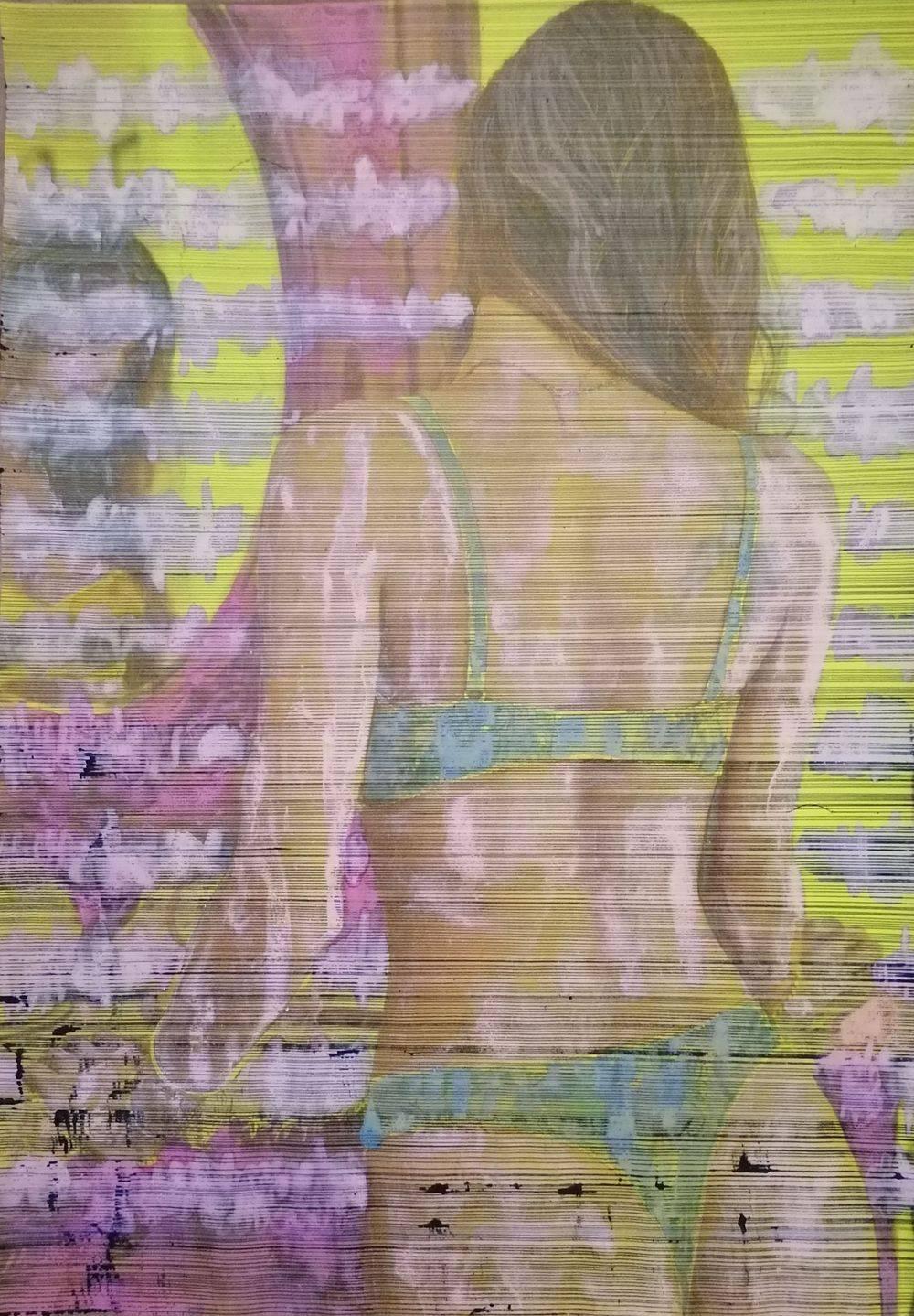 Aquarelle, Jaune, Femme, Histoire de l'art, Portrait