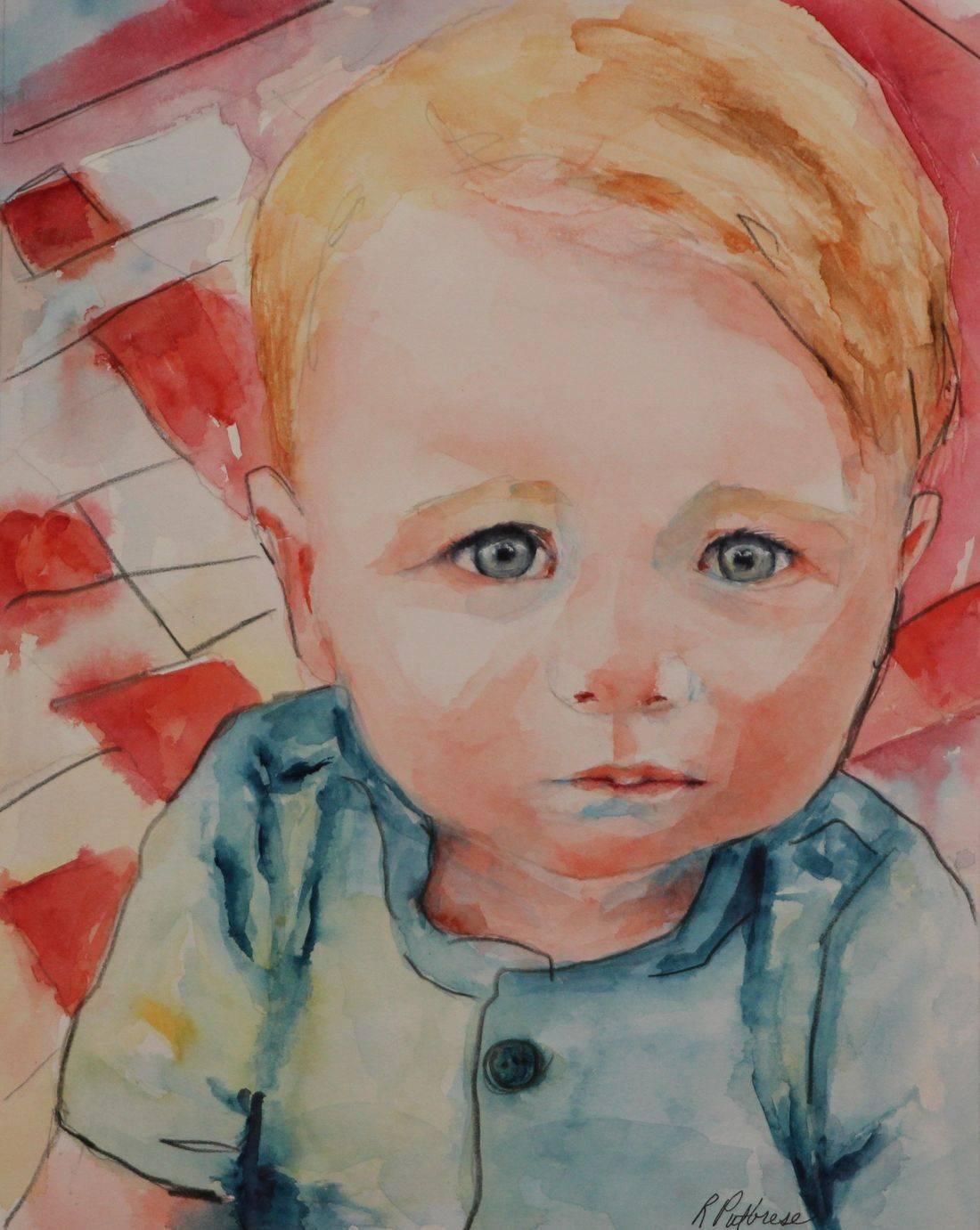 Watercolor portrait by Becky/Rebecca Krutsinger at rputbresewatercolor.com